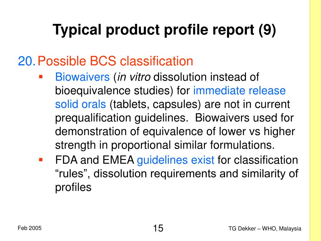 Typical product profile report (9)
