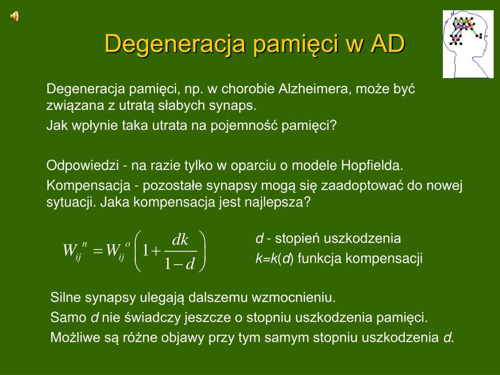 Degeneracja pamięci w AD
