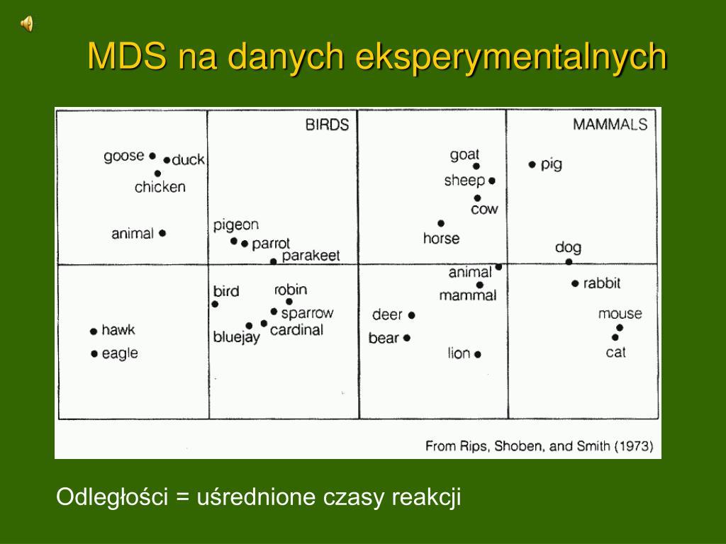 MDS na danych eksperymentalnych