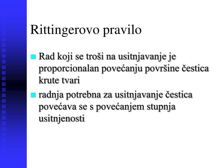 Rittingerovo pravilo