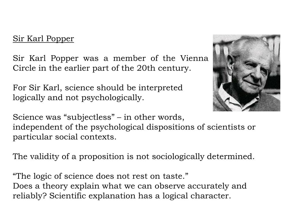 a comparison of karl popper and thomas kuhns views of science Ferent views as they might apply to practical science policy the epistemological theses ofpopper and kuhn falsification is the word that calls popper's views into the mind of many.