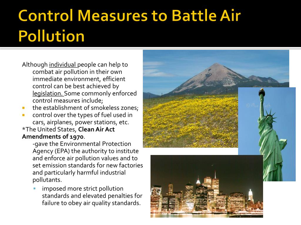 Control Measures to Battle Air Pollution