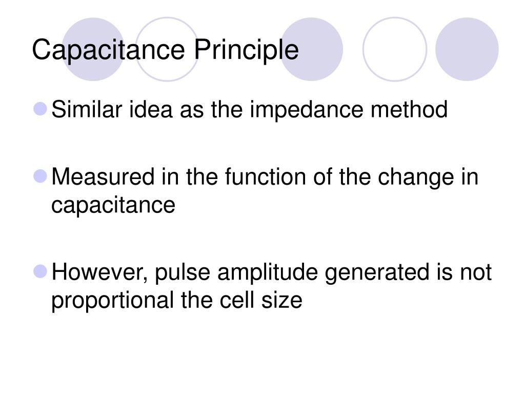 Capacitance Principle