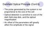 darkfield optical principle cont d16