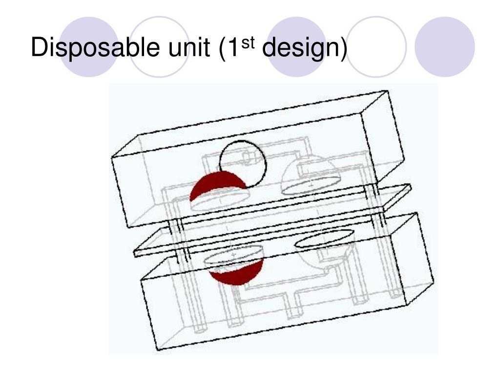 Disposable unit (1
