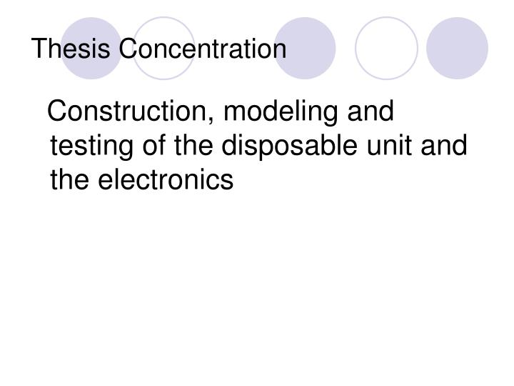 Thesis concentration