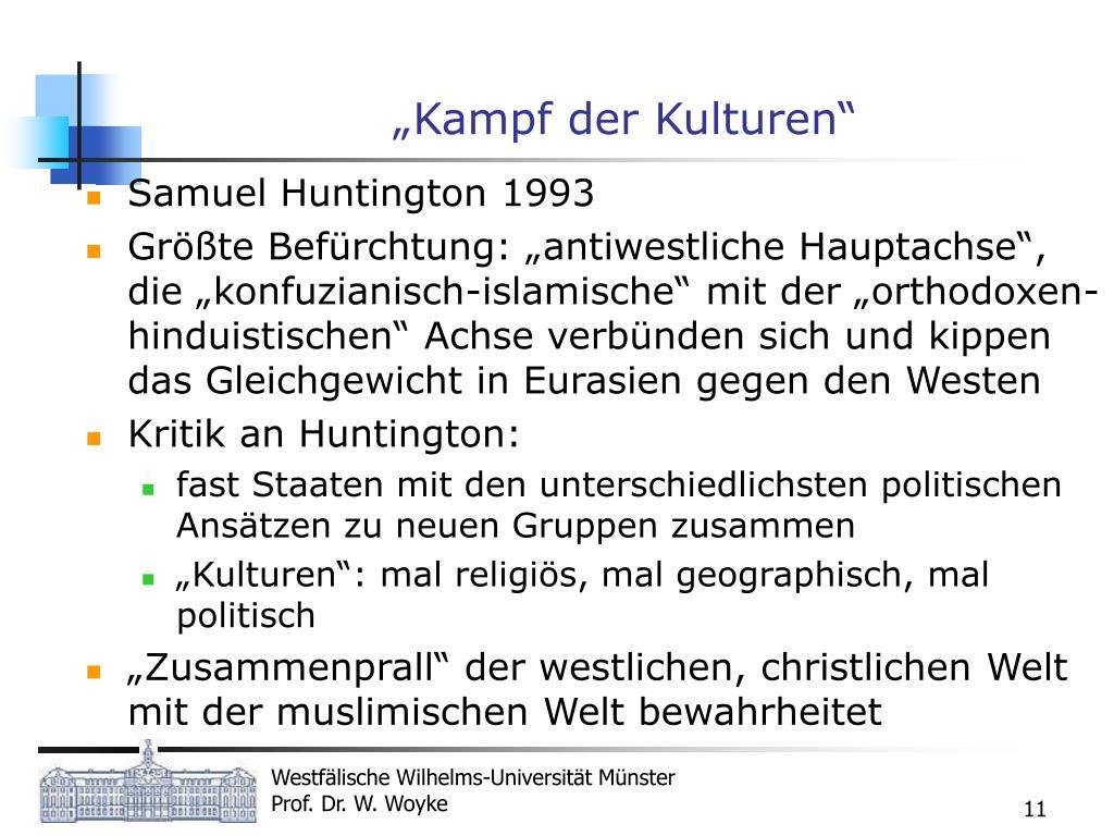 """""""Kampf der Kulturen"""""""