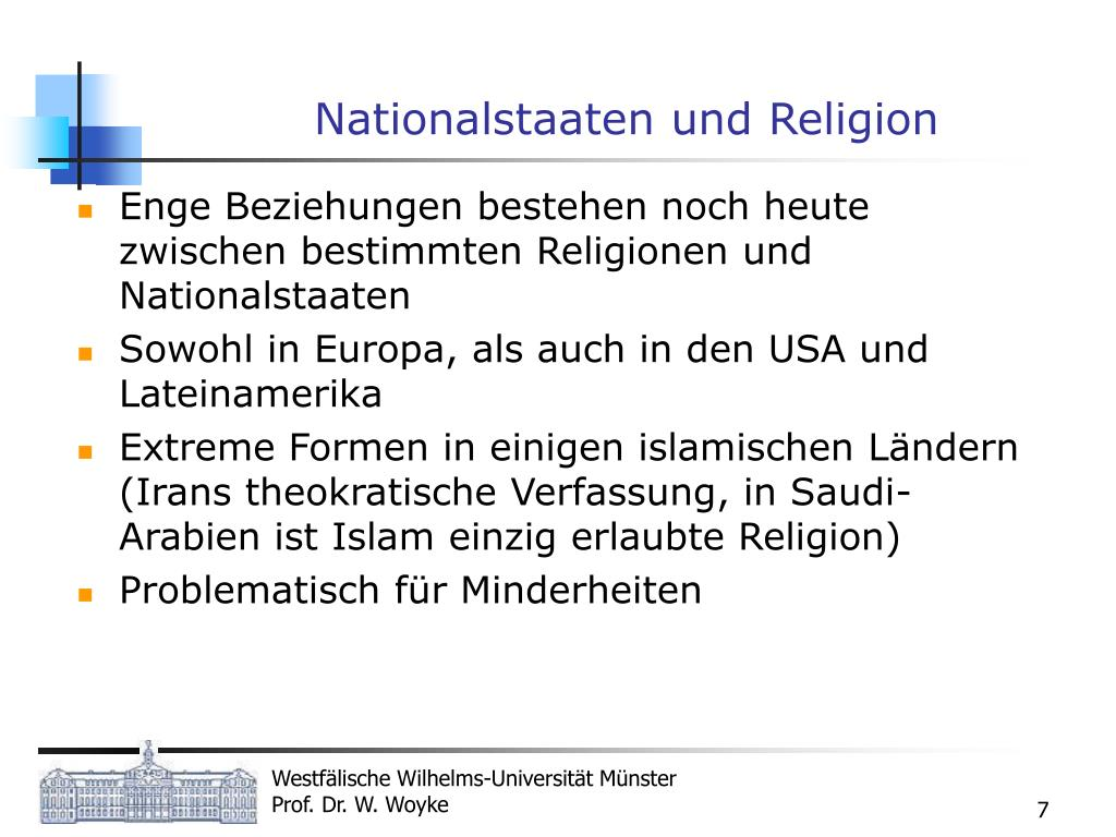 Nationalstaaten und Religion