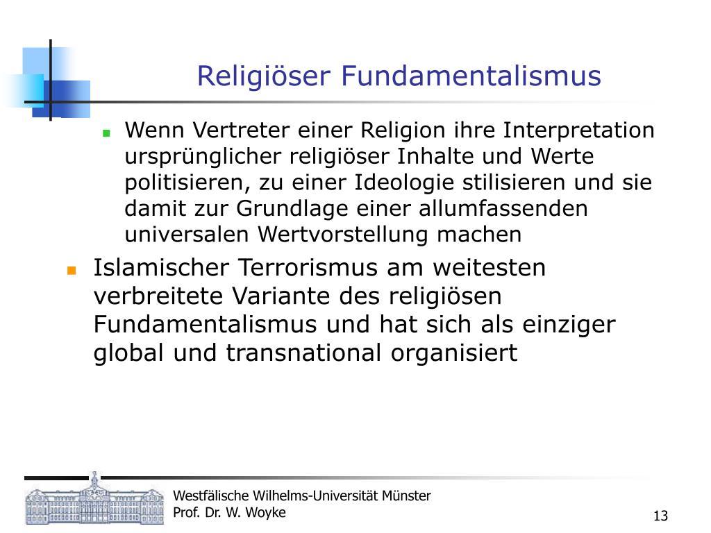 Religiöser Fundamentalismus