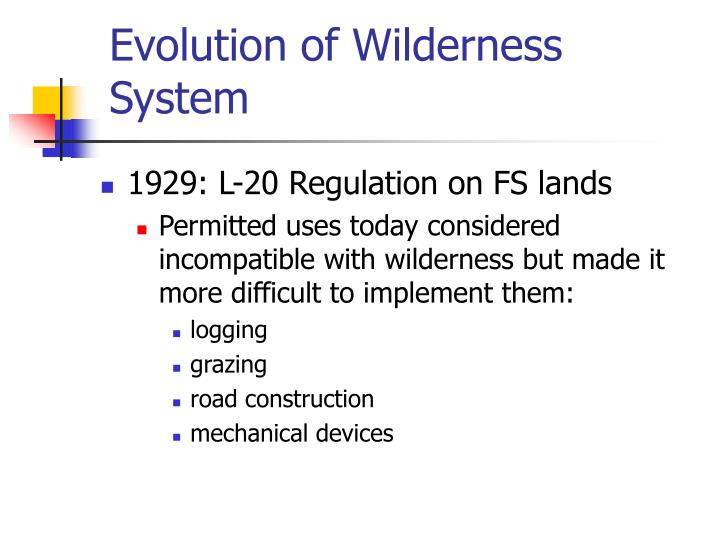 Evolution of wilderness system3 l.jpg