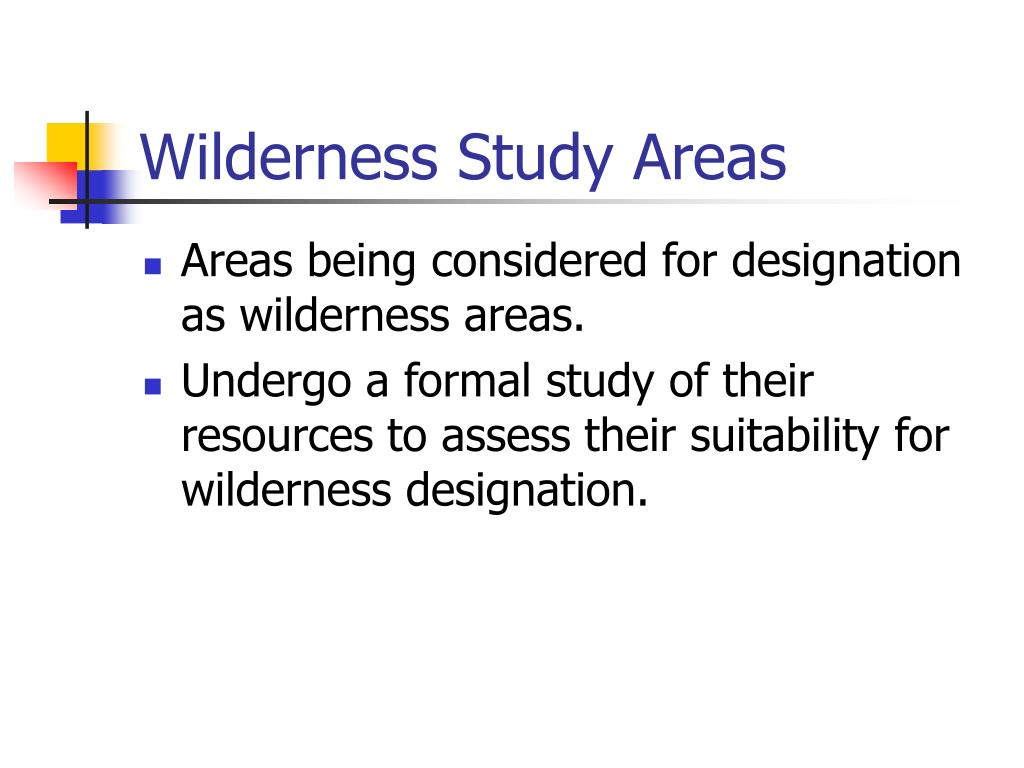 Wilderness Study Areas