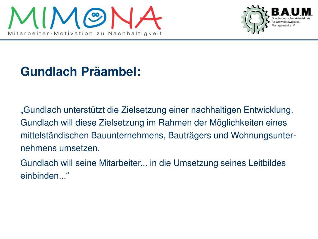Gundlach Präambel: