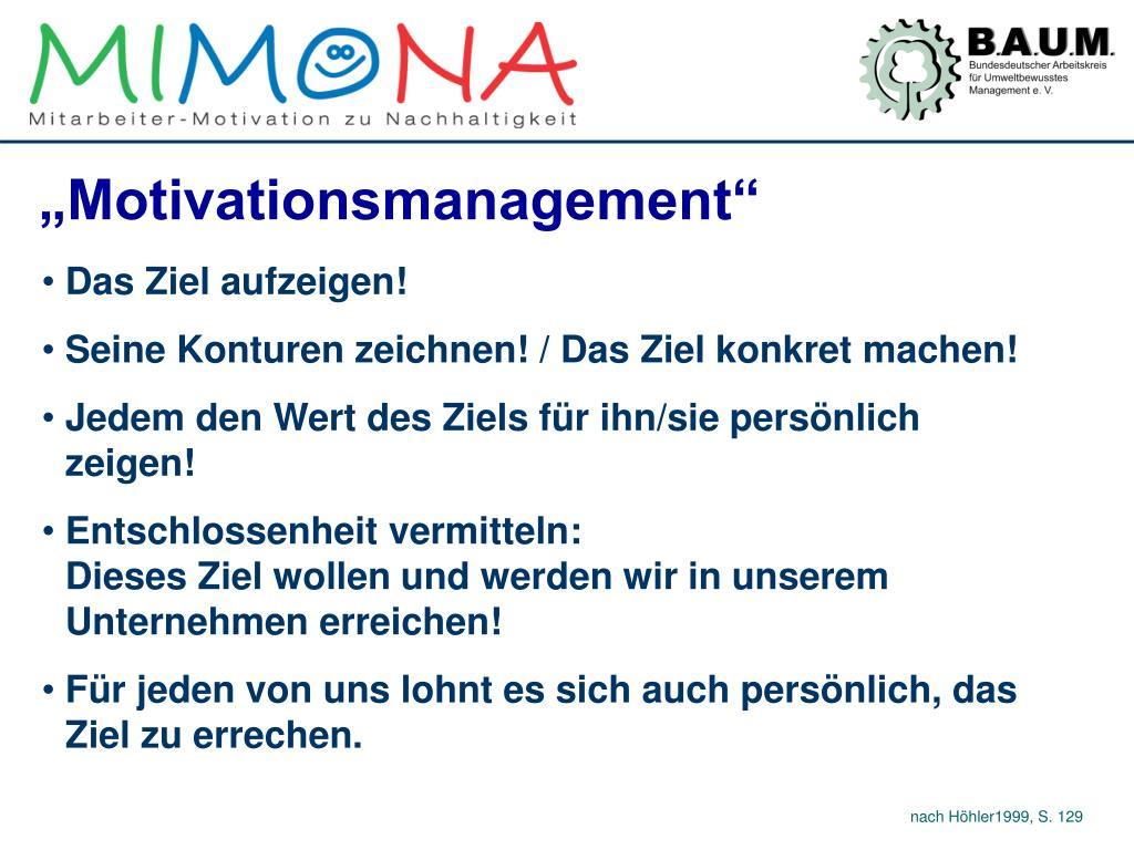 """""""Motivationsmanagement"""""""