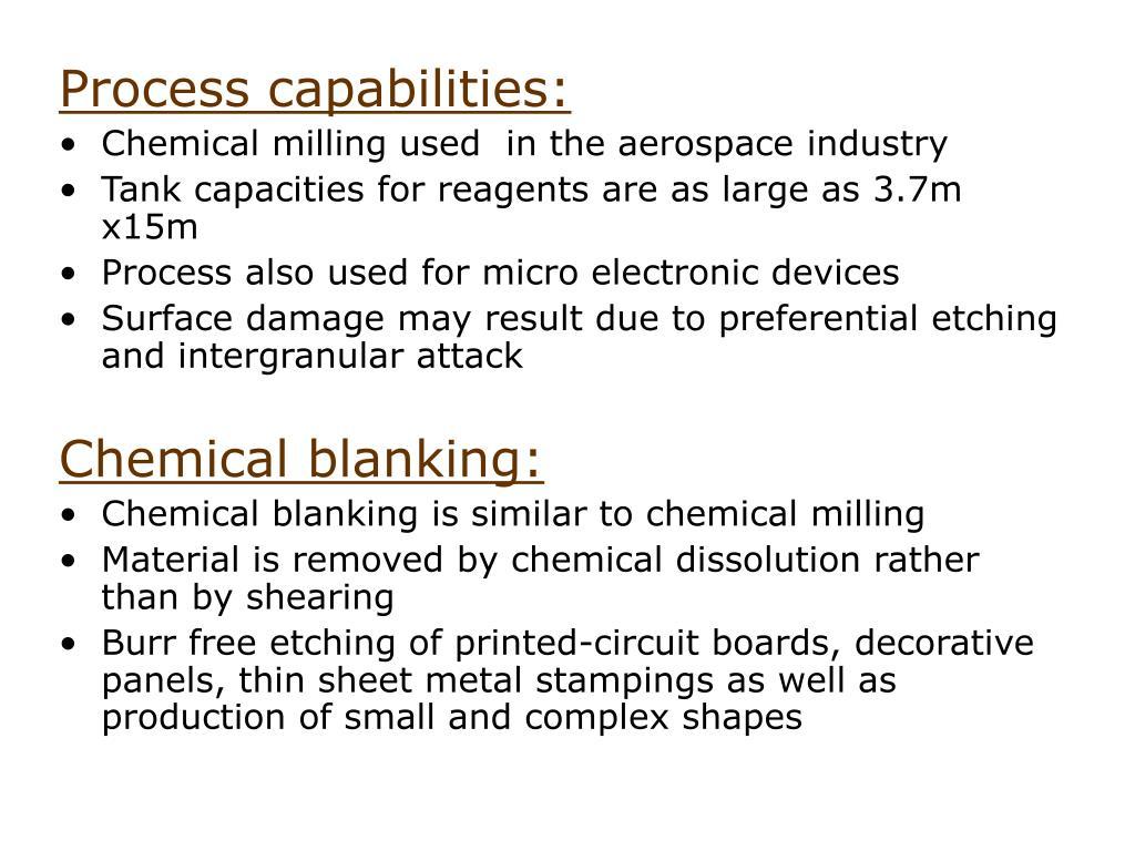 Process capabilities: