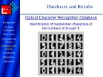 databases and results14