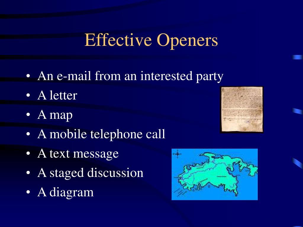 Effective Openers