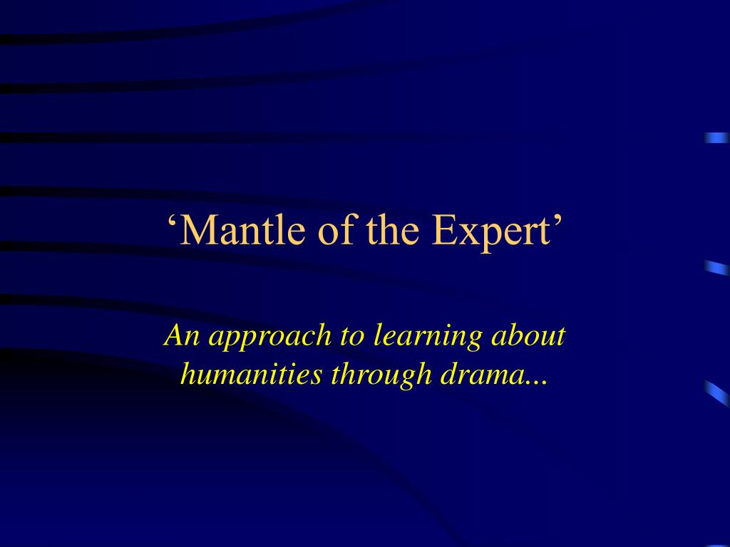 'Mantle of the Expert'