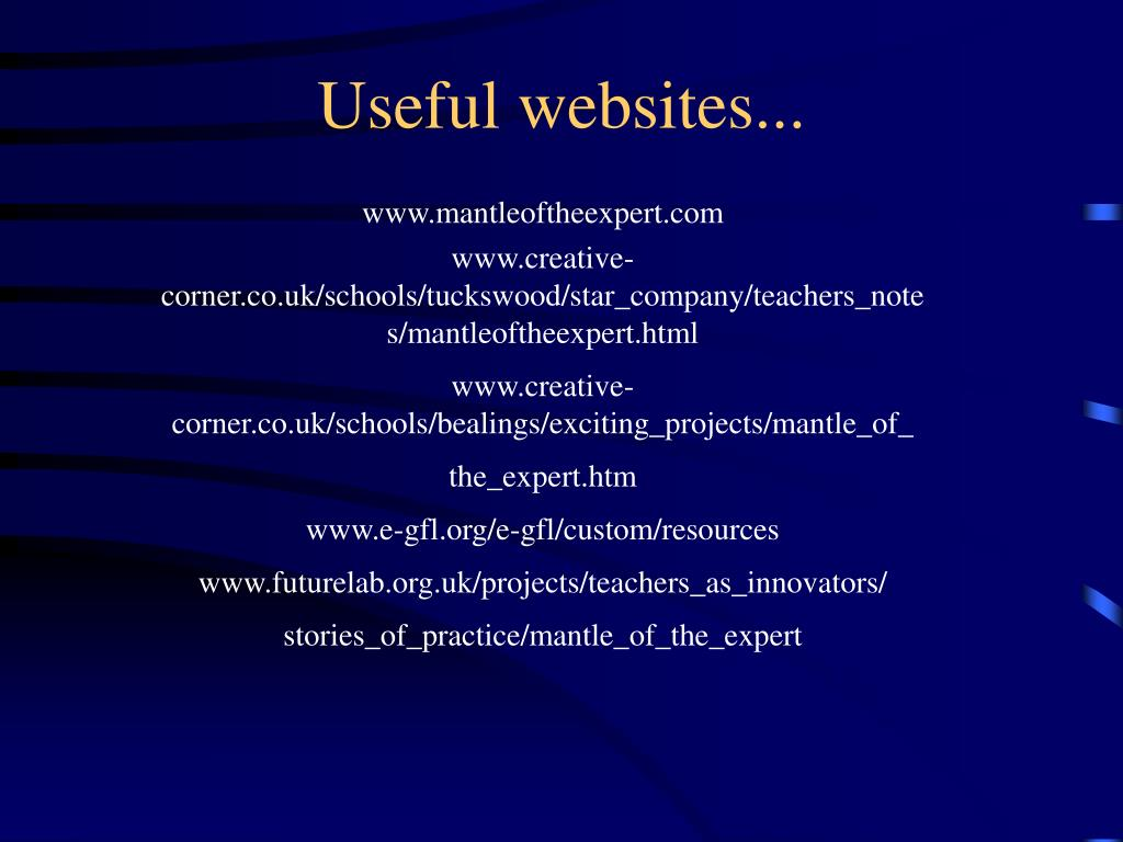 Useful websites...