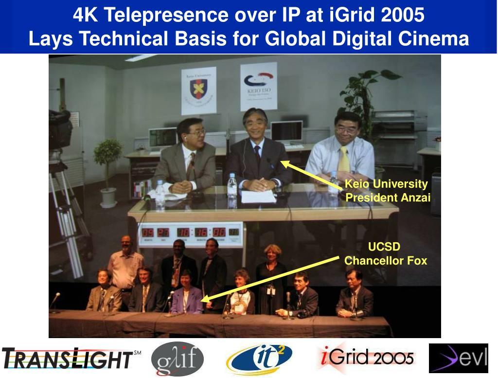 4K Telepresence over IP at iGrid 2005