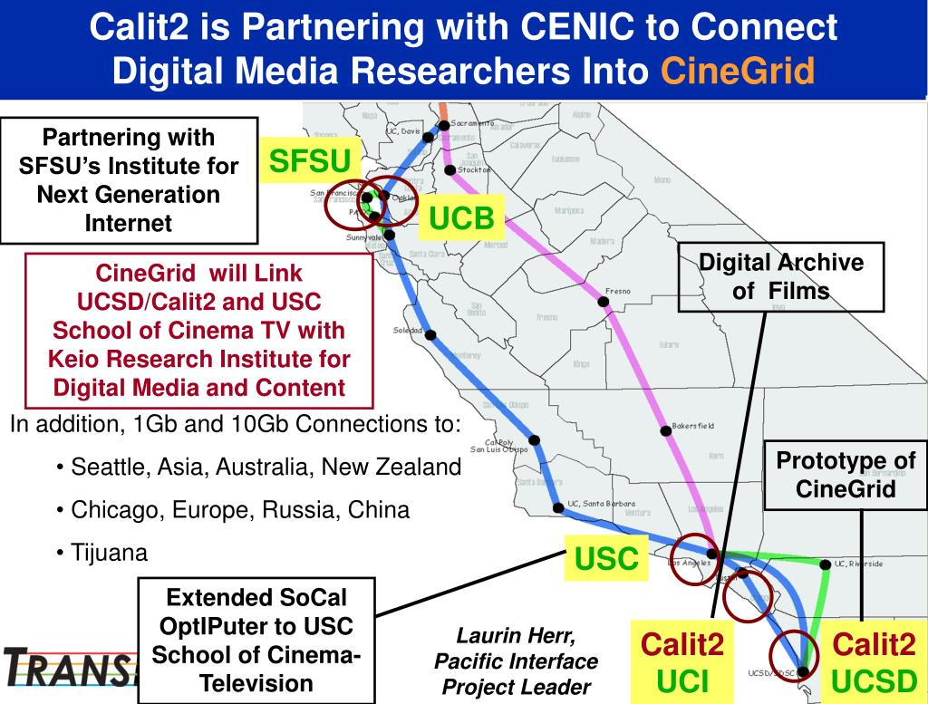 Calit2 is Partnering with CENIC to Connect