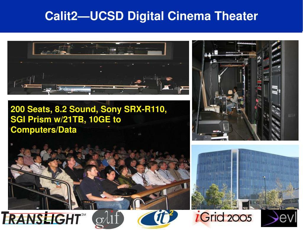 Calit2—UCSD Digital Cinema Theater