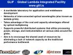 glif global lambda integrated facility www glif is