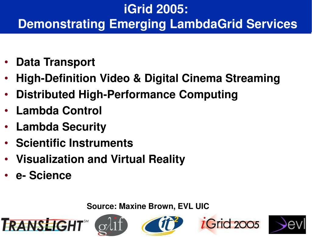 iGrid 2005: