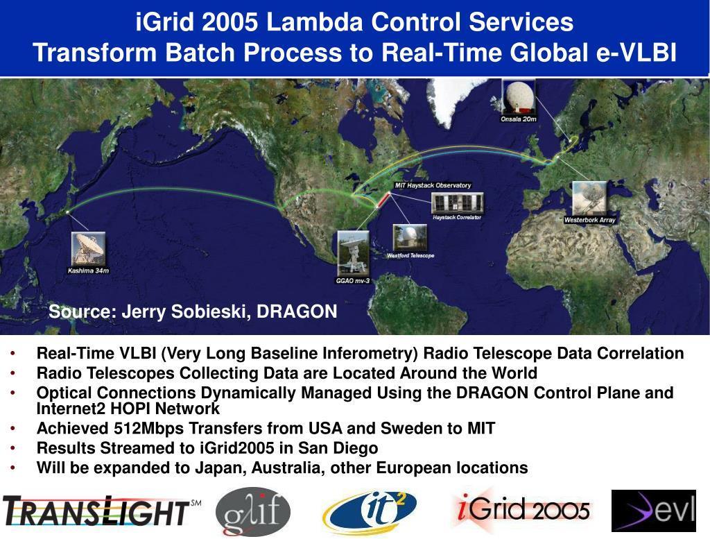 iGrid 2005 Lambda Control Services