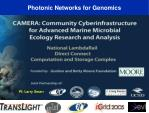 photonic networks for genomics