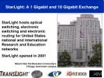 starlight a 1 gigabit and 10 gigabit exchange