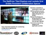 the optiputer tiled displays and lambda grid enable persistent collaboration spaces