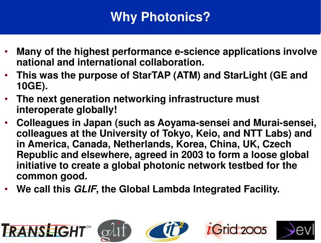Why Photonics?