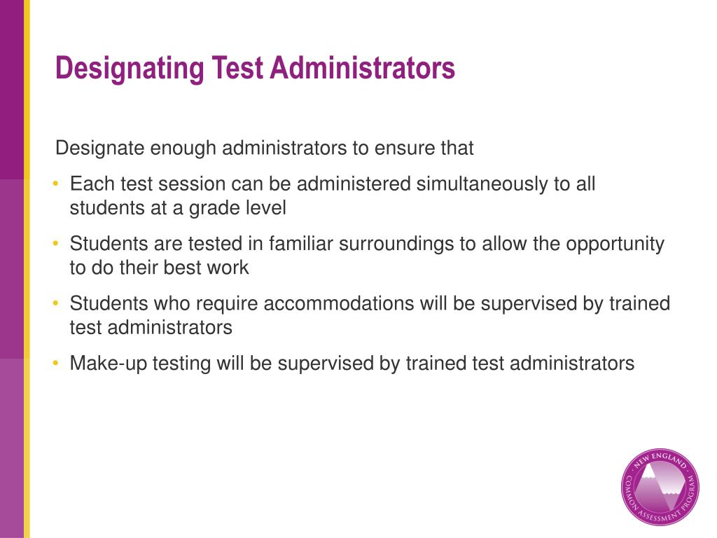Designating Test Administrators