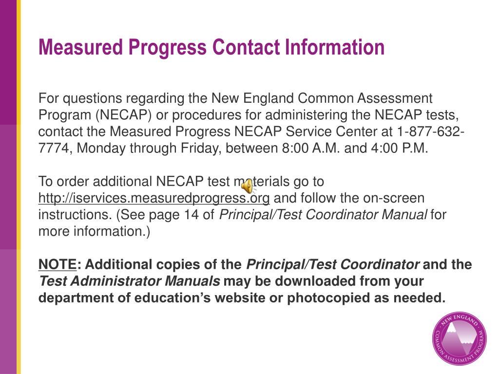 Measured Progress Contact Information