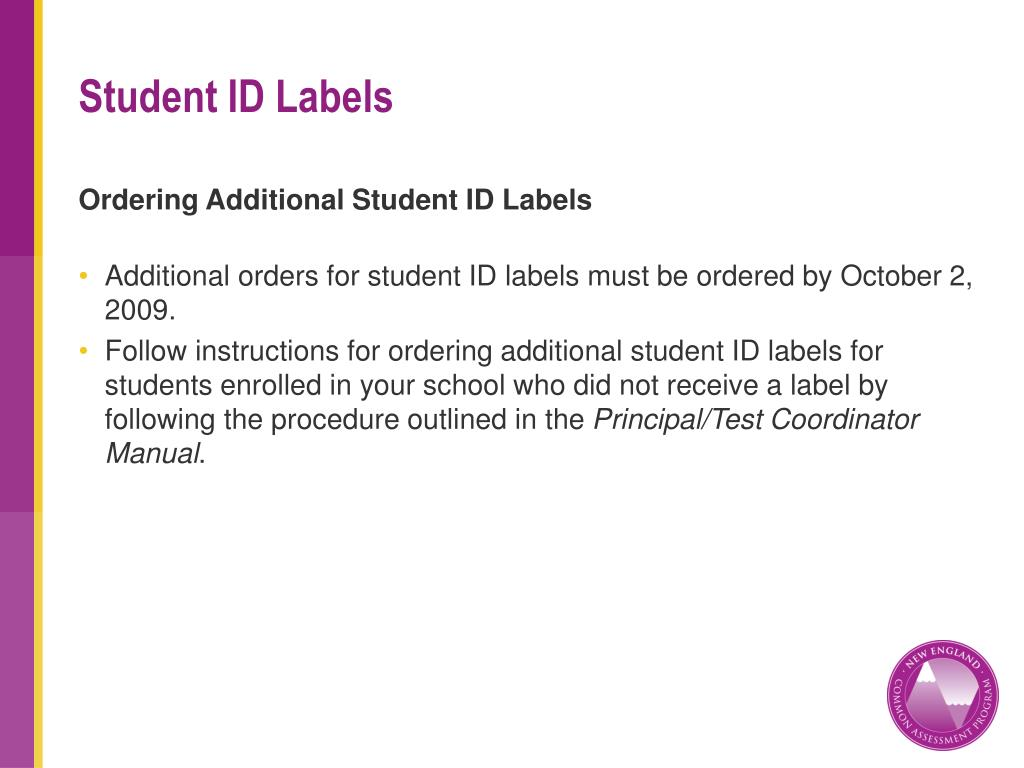 Ordering Additional Student ID Labels