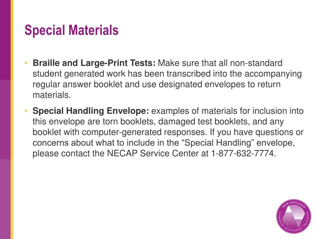Special Materials