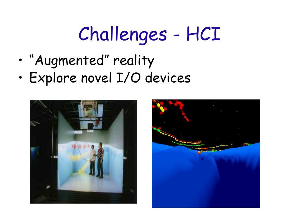 Challenges - HCI