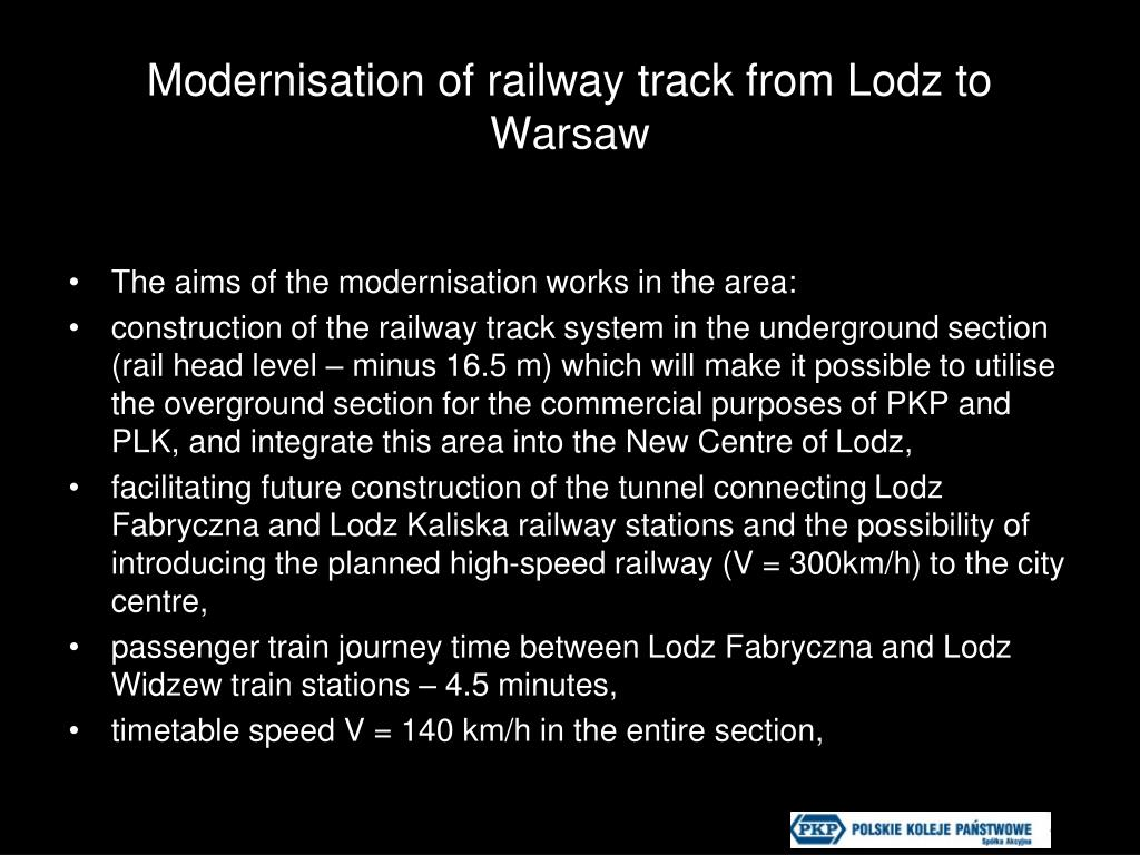 Modernisation of railway track from Lodz to Warsaw