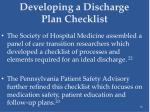 developing a discharge plan checklist36
