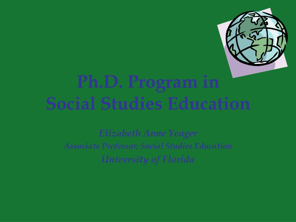 ph d program in social studies education