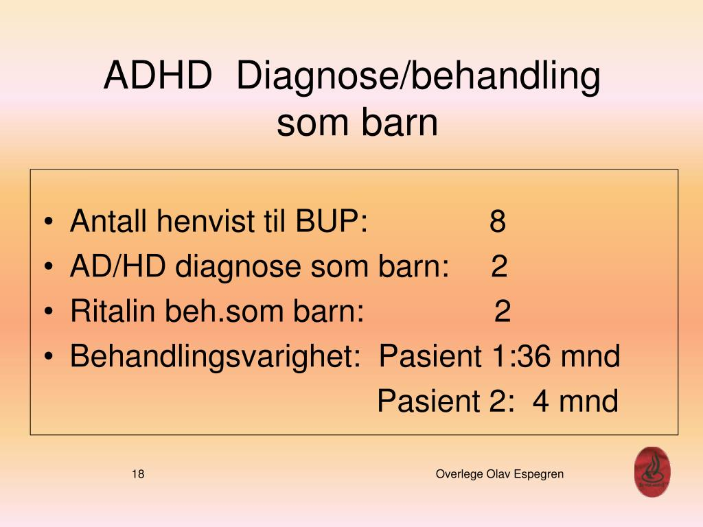ADHD  Diagnose/behandling