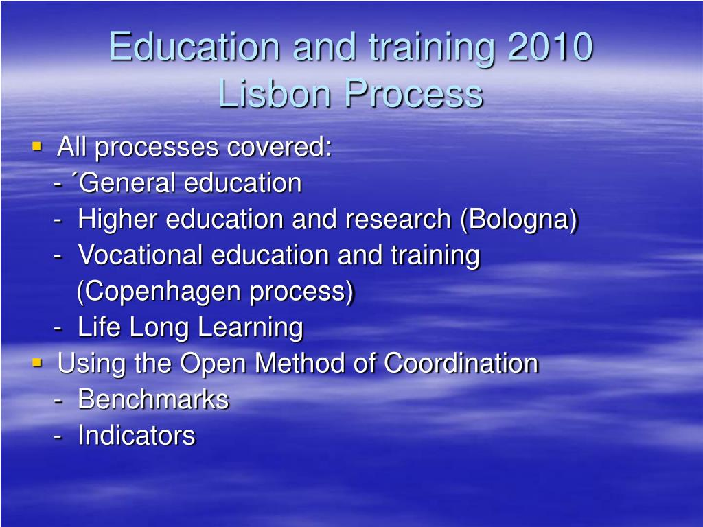 Education and training 2010
