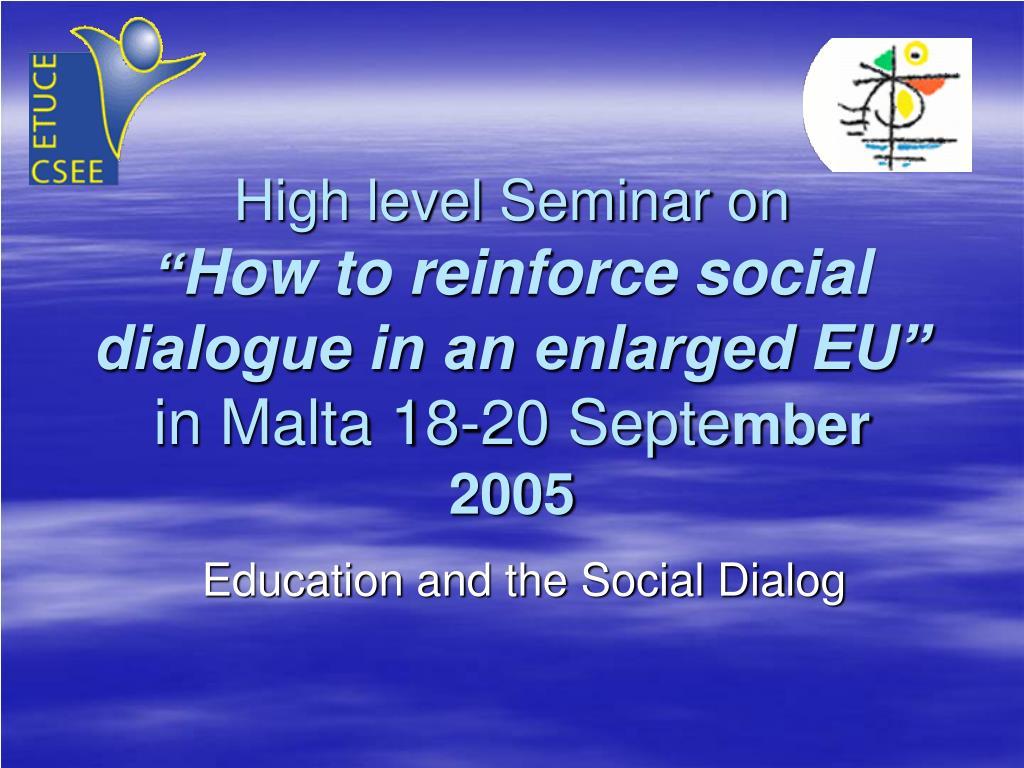 High level Seminar on