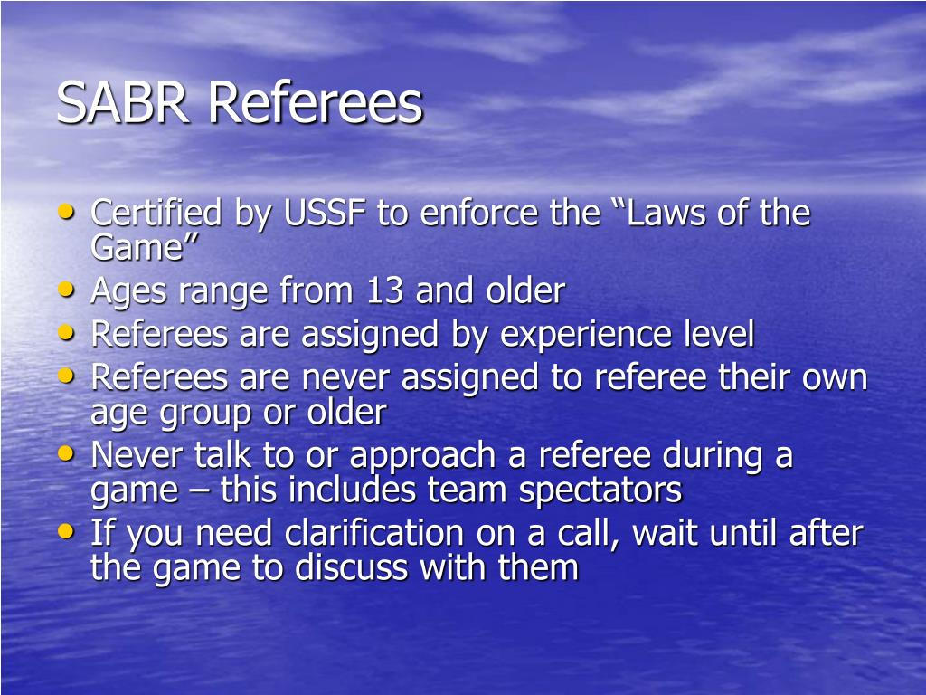 SABR Referees