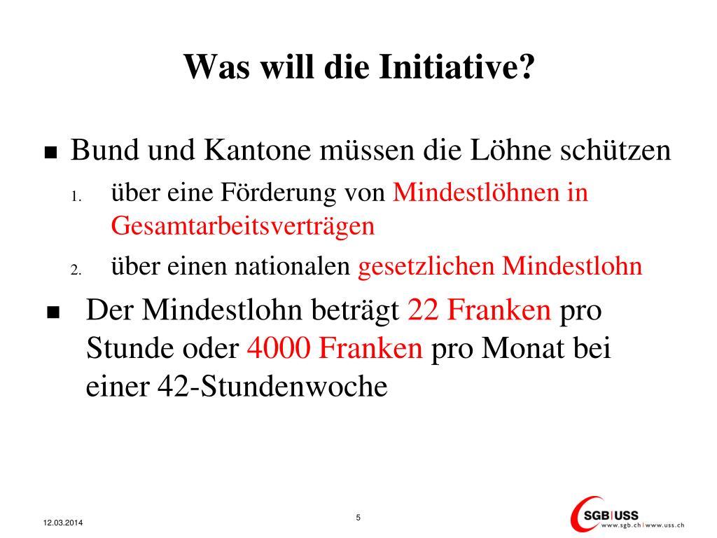 Was will die Initiative?