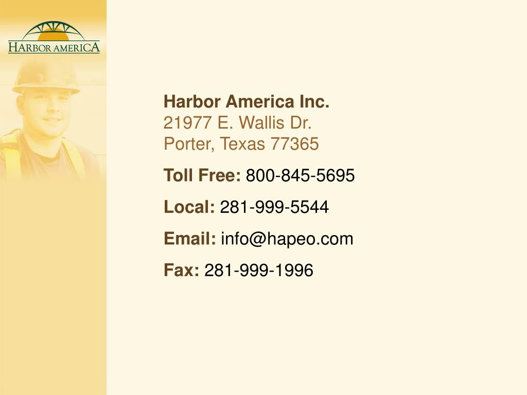 Harbor America Inc.