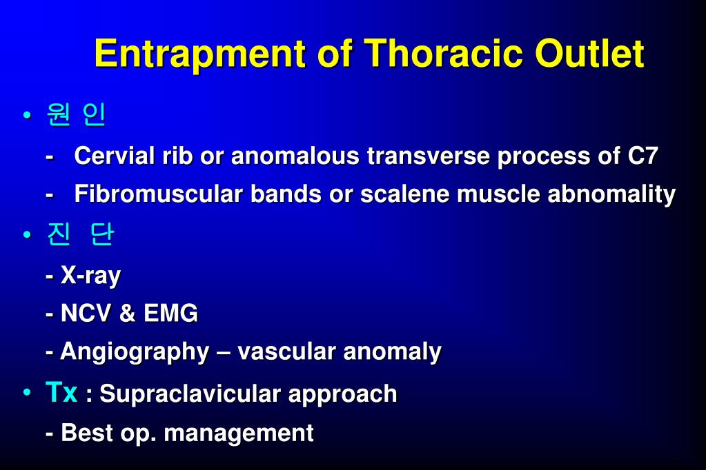 Entrapment of Thoracic Outlet