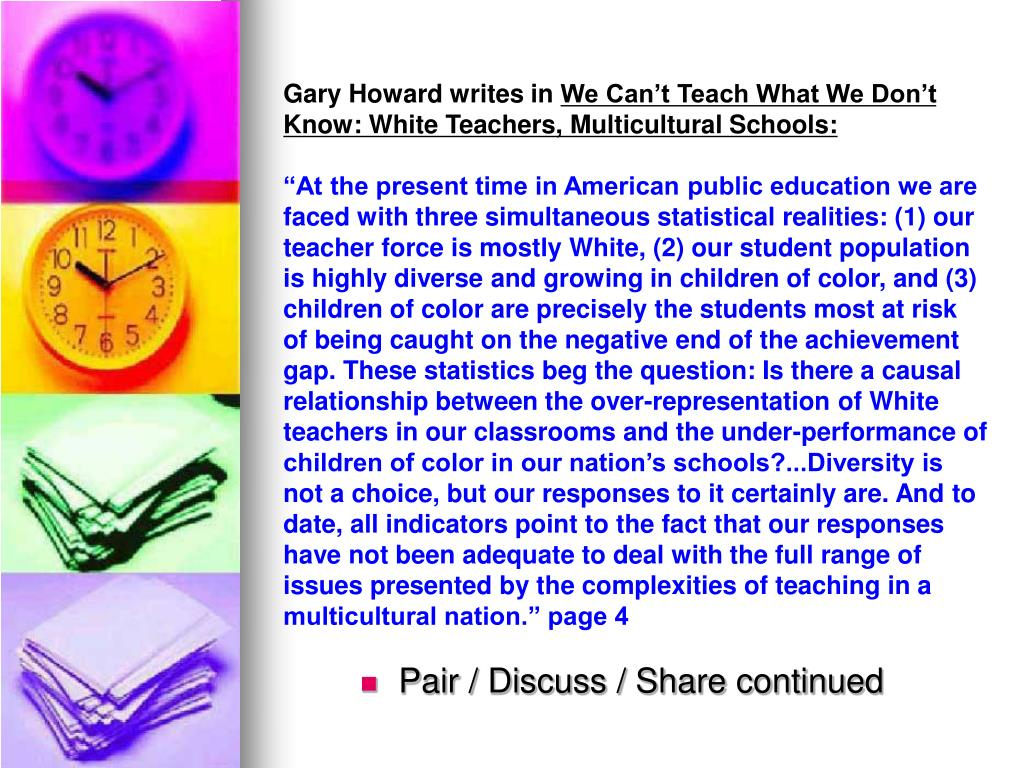 Gary Howard writes in