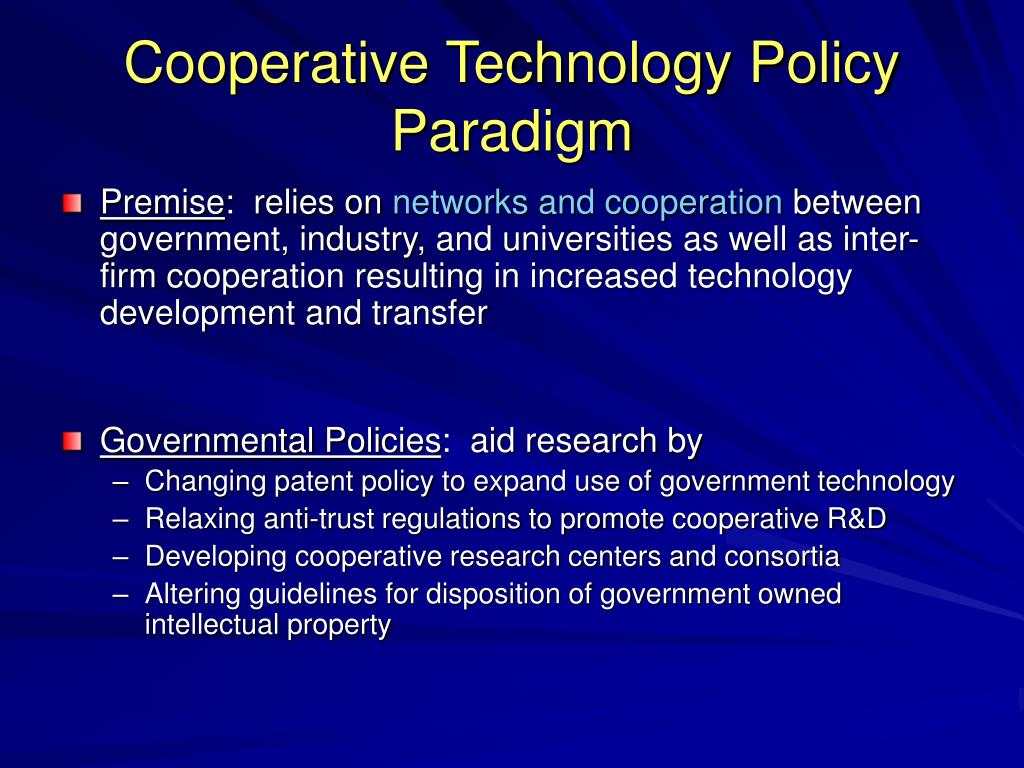 Cooperative Technology Policy Paradigm