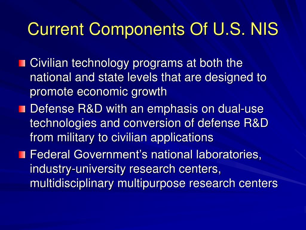 Current Components Of U.S. NIS